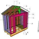 8×4 Gable Shed Roof Plans