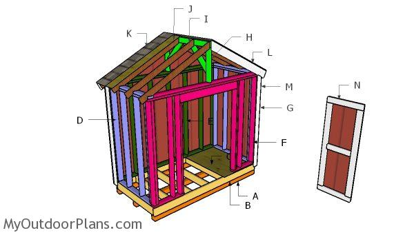 8x4 Gable Shed Roof Plans Myoutdoorplans Free Woodworking