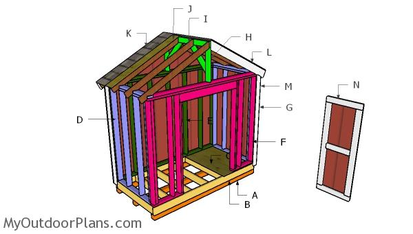 Building a 8x4 gable shed