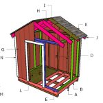 8×6 Gable Shed Roof Plans