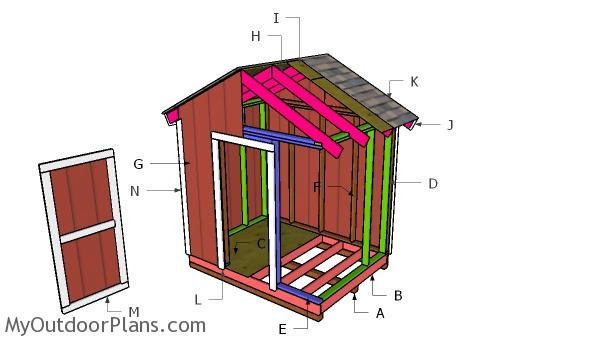 8x6 Gable Shed Roof Plans