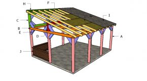16×20 Lean to Pavilion Roof Plans