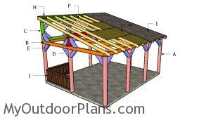 Building a lean to picnic shelter