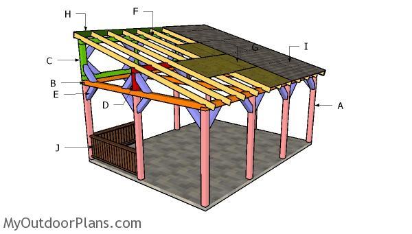 16x20 Lean to Pavilion Roof Plans