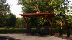 DIY 2 Post Cedar Pergola