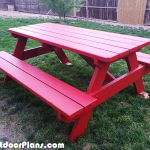 DIY 6 ft Picnic Table