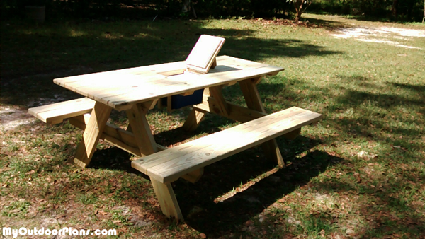 DIY Ice Chest Picnic Table