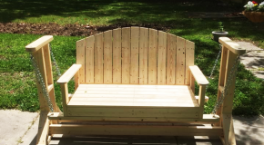 DIY Wooden Swing Bench