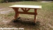 DIY 6 ft Farmhouse Table