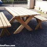 DIY X Shape Picnic Table