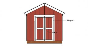 8×4 Double Shed Door Plans