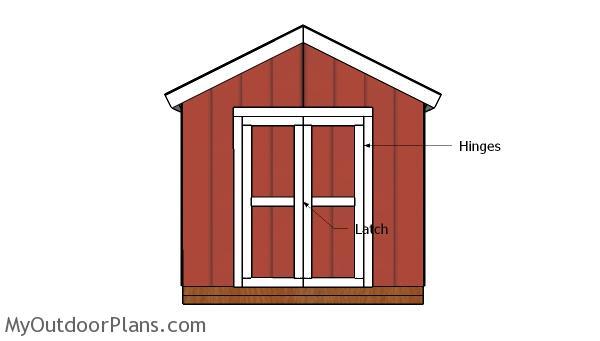 8x4 Double Shed Door Plans
