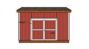16×12 Shed Double Doors and Trims Plans
