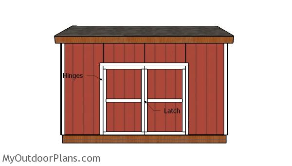 16x12 Shed Double Doors and Trims Plans