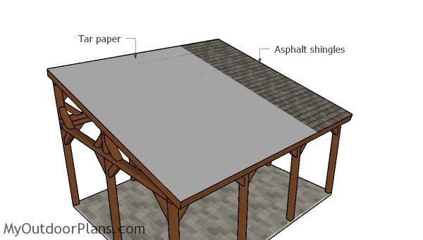16x20 Lean To Pavilion Roof Plans Myoutdoorplans Free
