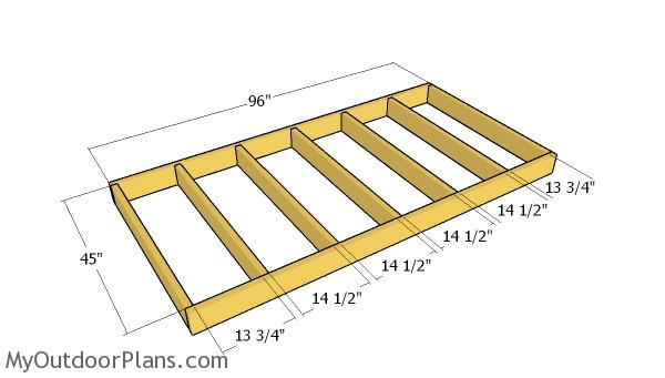 Floor frame for shed