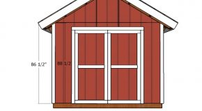 10×8 Double Doors Shed Plans