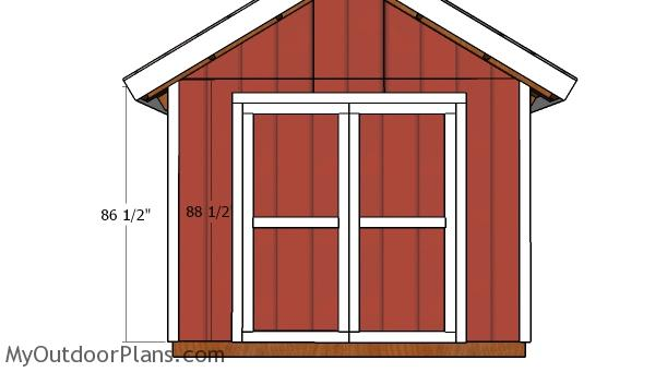 10x8 Double Doors Shed Plans