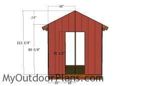 Front wall siding sheet
