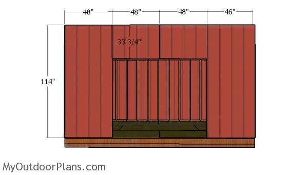 Front wall siding sheets