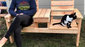 DIY 2×4 Backyard Double Chair Bench