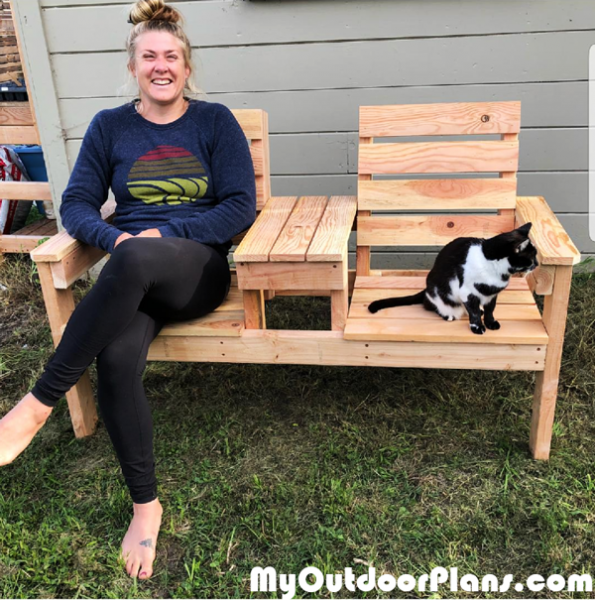 Diy 2x4 Backyard Double Chair Bench Myoutdoorplans