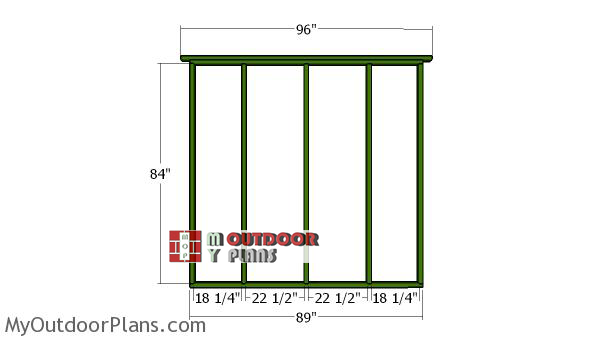Side-wall-frame---10x8-shed