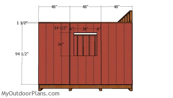 Side wall siding