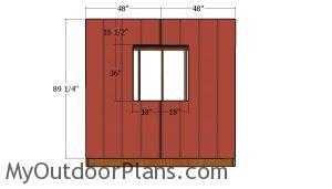 Side wall with window siding