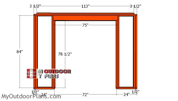 front-wall-frame---10x8-shed