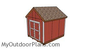 10x12 shed with front doors plans