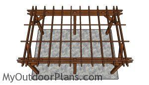 10x16 pergola plans - top view