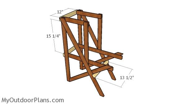 Assembling the frame of the plant stand