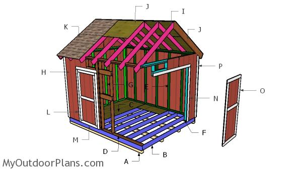 10x12 Gable Shed Roof Plans