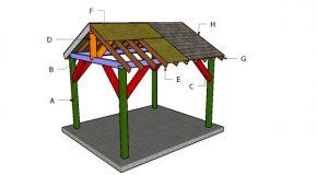 10×12 Pavilion Roof Plans