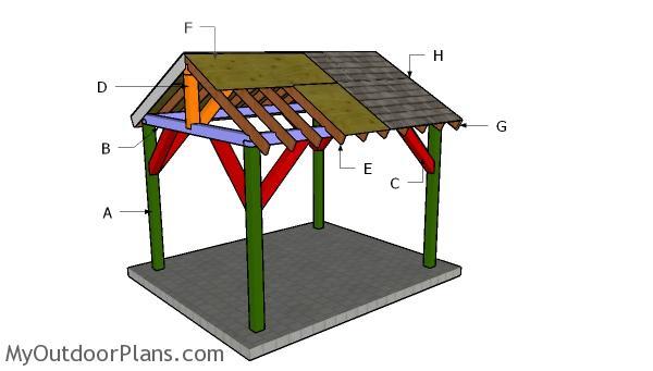 10x12 Pavilion Roof Plans
