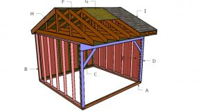 12×12 Field Shed Roof Plans