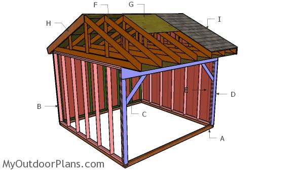 12x12 Field Shed Roof Plans