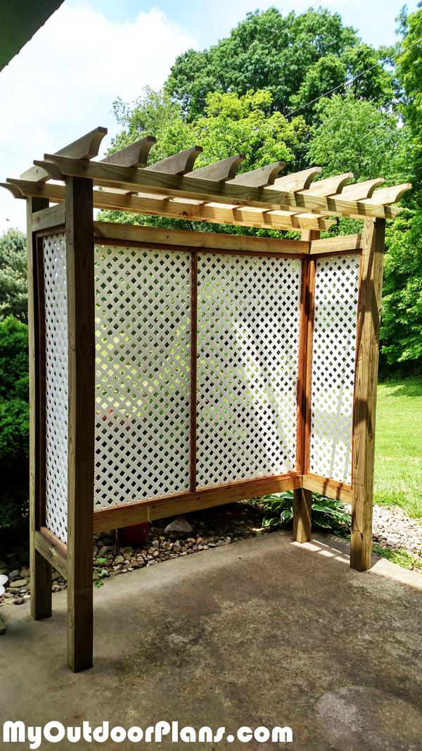 DIY Wood Arbor