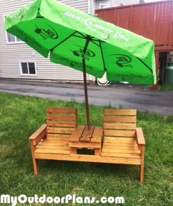 Double-chair-bench-with-table-and-umbrella