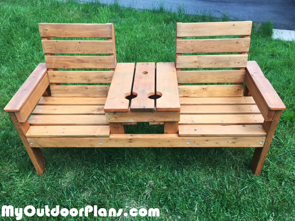 DIY Rustic Double Chair Bench
