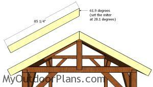 End roof trims