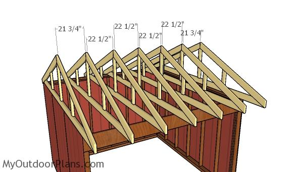 Fitting the rafters