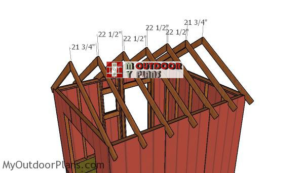 Fitting-the-trusses---10x12-shed
