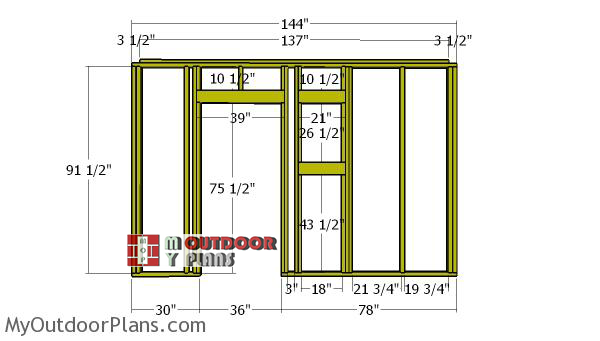 Front-wall-frame---10x12-shed
