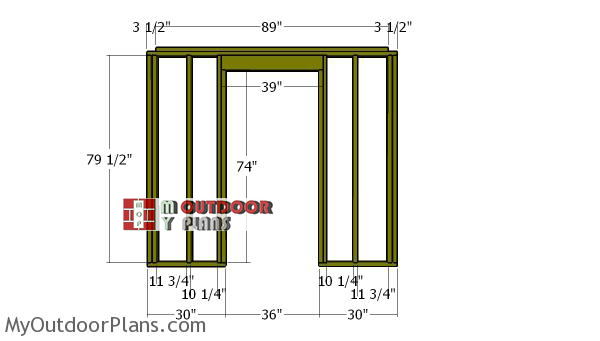Front-wall-frame---8x6-shed