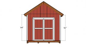 10×12 Gable Shed Doors Plans