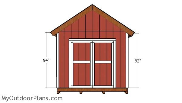 10x12 Gable Shed Doors Plans