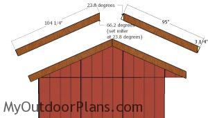 Side roof trims