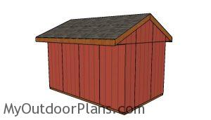 10x16 Field Shed Plans - back view